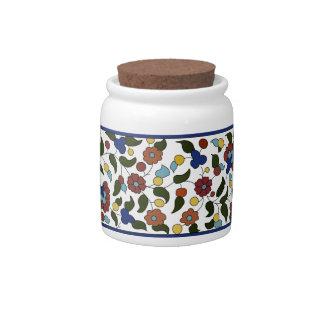 Armenian Floral Pattern - Blue & White Candy Dish