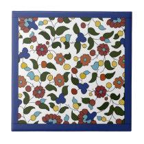 Armenian Floral Pattern  - Blue & White Tile