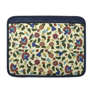 Armenian floral pattern - Blue & Yellow / Cream MacBook Sleeves