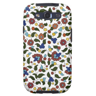Armenian flower pattern - Blue & White Samsung Galaxy SIII Cases