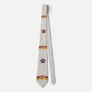 Armenian Forget me not Flower and the Flag Tie