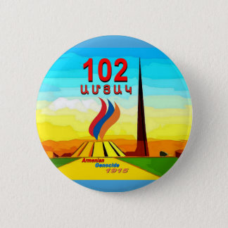 Armenian Genocide 102nd memorial Round Button