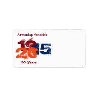 Armenian Genocide Address Label