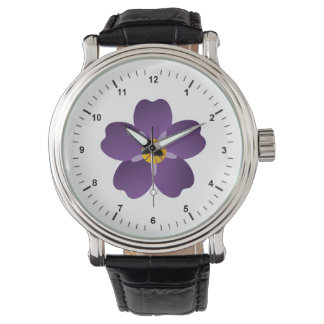 Armenian Genocide Black Leather Strap Watch
