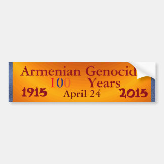 Armenian Genocide Bumper Sticker Car Bumper Sticker