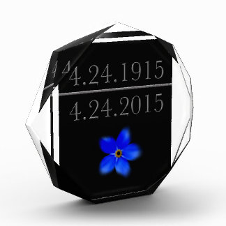 Armenian Genocide Forget Me Not Acrylic Award