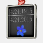 Armenian Genocide Forget Me Not Metal Ornament