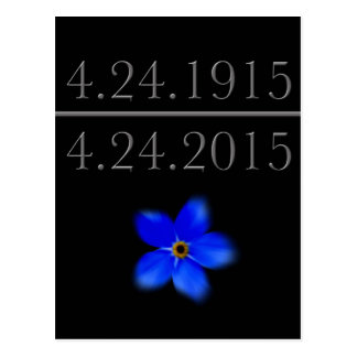 Armenian Genocide Forget Me Not Postcard