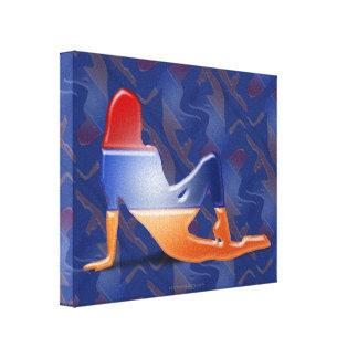 Armenian Girl Silhouette Flag Canvas Print