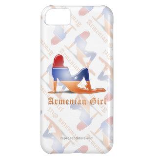 Armenian Girl Silhouette Flag Case For iPhone 5C