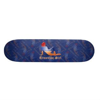 Armenian Girl Silhouette Flag Skate Board Deck