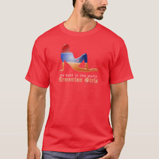 Armenian Girl Silhouette Flag T-Shirt