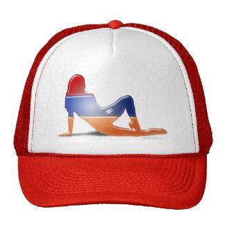 Armenian Girl Silhouette Flag Trucker Hat