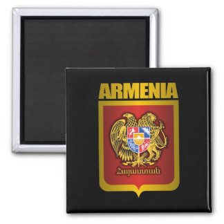"""""""Armenian Gold"""" 2 Inch Square Magnet"""