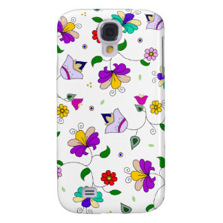 Armenian-inspired Colorful Swirling Flower Pattern Samsung Galaxy S4 Covers