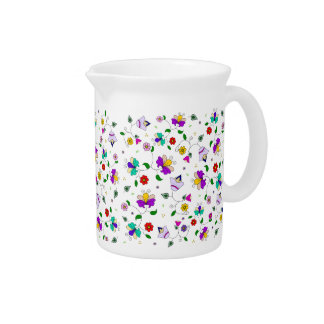 Armenian-inspired Floral Pattern Beverage Pitcher