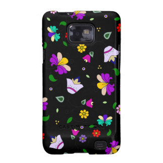 Armenian-inspired Floral Pattern - Black Samsung Galaxy SII Cases