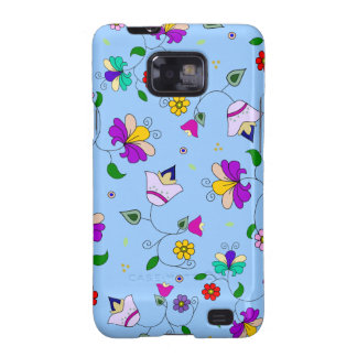 Armenian-inspired Floral Pattern - Blue Galaxy S2 Covers