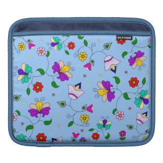 Armenian-inspired Floral Pattern - Blue iPad Sleeves
