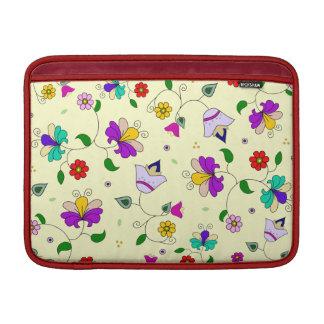 Armenian-inspired Floral Pattern - Cream MacBook Sleeves