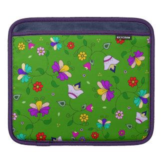 Armenian-inspired Floral Pattern - Green iPad Sleeve