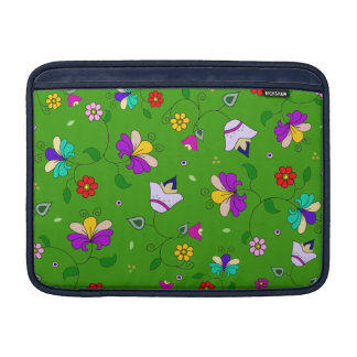 Armenian-inspired Floral Pattern - Green MacBook Air Sleeves