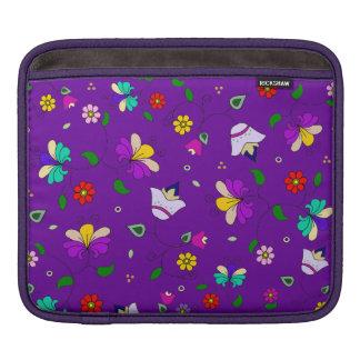 Armenian-inspired Floral Pattern - Indigo Purple iPad Sleeve
