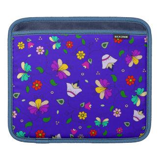 Armenian-inspired Floral Pattern - Navy Blue iPad Sleeves