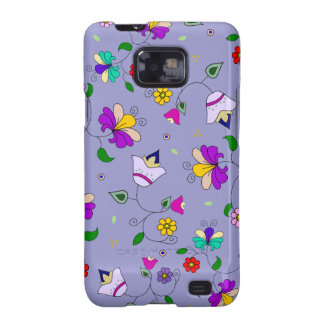 Armenian-inspired Floral Pattern - Purple Galaxy S2 Cases