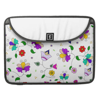 Armenian-inspired Floral Pattern - White Sleeve For MacBook Pro