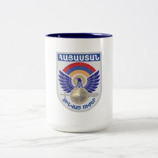 Armenian Military Seal Two-Tone Coffee Mug