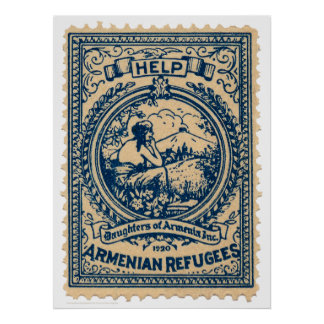 Armenian Refugees 1920 Christmas Seal Poster