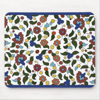 Armenian small print floral pattern mouse pad