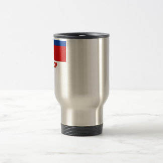 Armenian SSR Flag with Name 15 Oz Stainless Steel Travel Mug