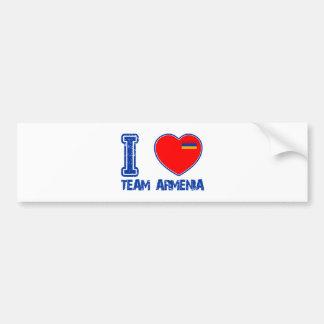 armenian team sports designs bumper sticker