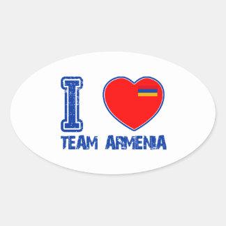 armenian team sports designs oval sticker
