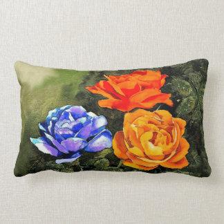 Armenian Tricolor Roses Throw Pillow2 Lumbar Pillow