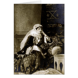 Armenian Woman Traditional Dress, circa 1800's Greeting Card