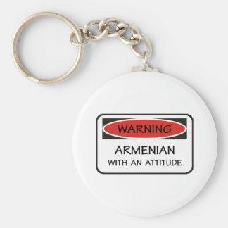 Armenio de la actitud llavero personalizado