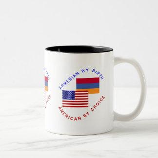 Armenio por el nacimiento americano por la opción tazas de café