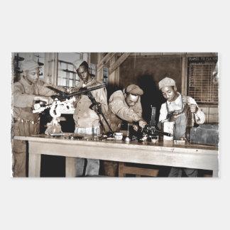 Armeros de los aviadores de WWII Pegatina Rectangular