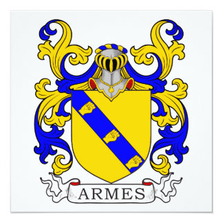 Armes Coat of Arms Card