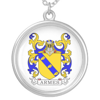 Armes Coat of Arms Round Pendant Necklace