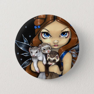 """Armful of Ferrets"" Button"