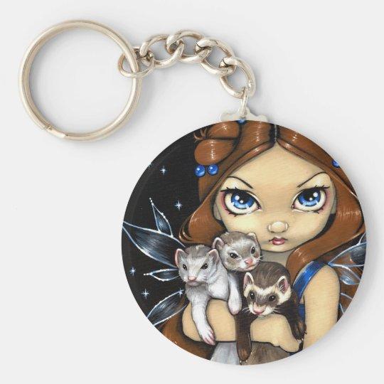 """""""Armful of Ferrets"""" Keychain"""