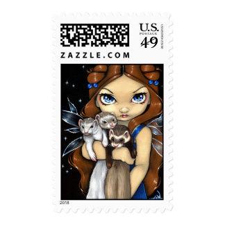 """Armful of Ferrets"" Stamp"