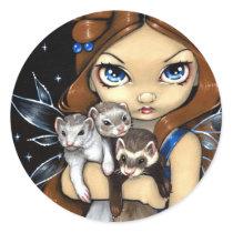 """Armful of Ferrets"" Sticker"