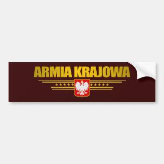 Armia Krajowa Bumper Stickers