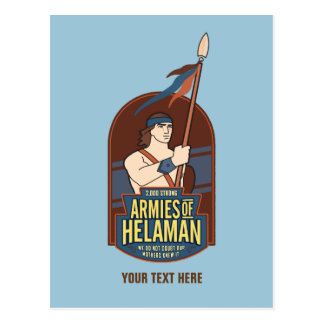 """Armies of Helaman"" postcard. blue Postcard"