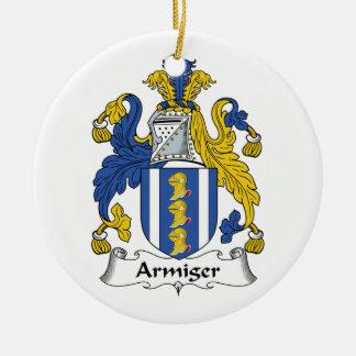 Armiger Family Crest Christmas Ornaments